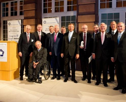 Preisträger, Redner und die Präsidenten der deutschen und europäischen Unterstützerverbände